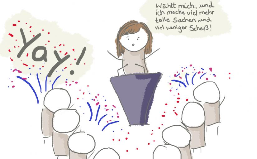 Der Weg in die Zukunft: Ich kandidiere!