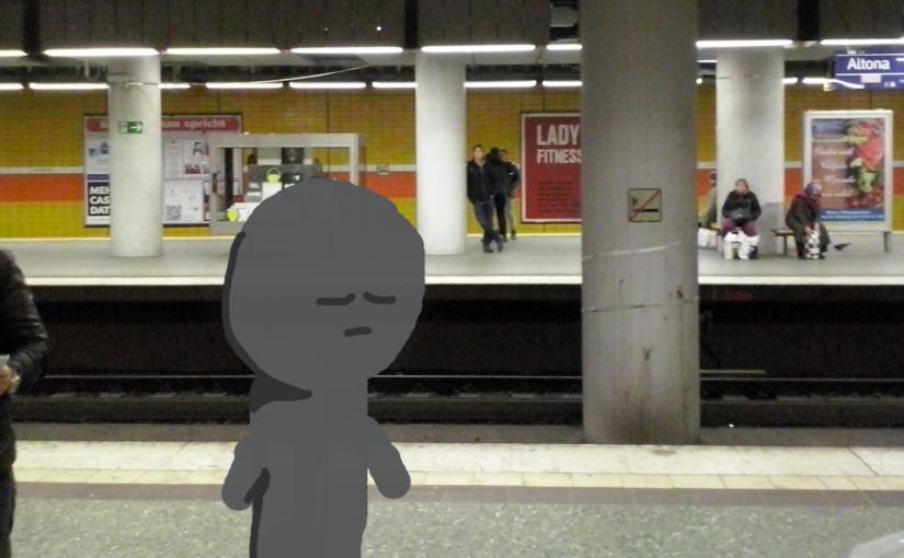 Der Mann am Bahnsteig
